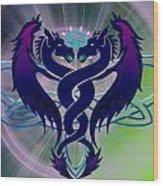 Dragon Duel Series 2 Wood Print