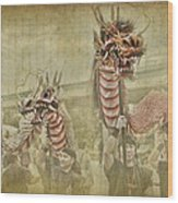 Dragon Festival Wood Print by Karen Walzer