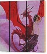 Dragon Power-featured In Comfortable Art Group Wood Print
