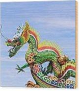 Dragon Sculpture Wood Print