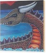 Dragon Three Wood Print