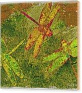 Dragonflies Abound Wood Print