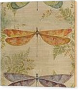 Dragonflies Among The Ferns-12415 Wood Print
