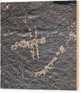 Dragonfly At Petroglyph National Monument Wood Print