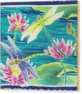 On The Breeze Of Dragonflies Wood Print