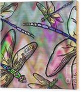 Dragonfly Land Wood Print
