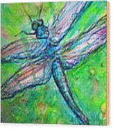 Dragonfly Spring Wood Print
