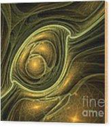 Dragon's Eye - Abstract Art Wood Print