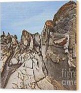 Dragon's Teeth Rocks Wood Print