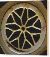 Drain Cover Wood Print