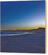 Drake's Beach Hdr Wood Print