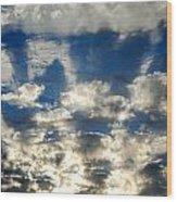 Drama Cloud Sunset I Wood Print