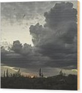Drama In The Sky Wood Print