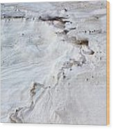 Dramatic Abstract At White Sands Wood Print