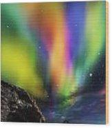 Dramatic Aurora Wood Print