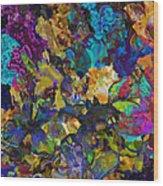 Dramatic Blooms 01 Wood Print