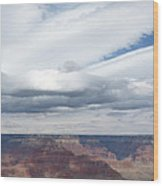 Dramatic Clouds Over The Grand Canyon Wood Print
