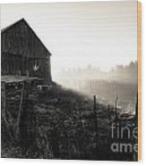 Dramatic Farm Sunrise Wood Print
