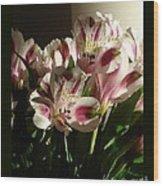 Dramatic Lilies Wood Print