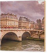 Dramatic Parisian Sky Wood Print