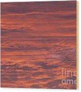 Dramatic Red Sky Wood Print