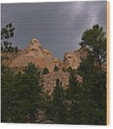 Dramatic Rushmore Wood Print