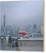 Dramatic Shanghai Wood Print