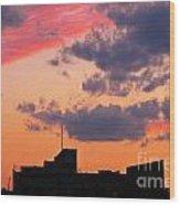 Dramatic Sky Dwarfs Halifax Skyline Wood Print