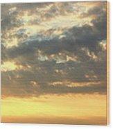 Dramatic Sunglow Wood Print