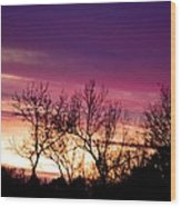 Dramatic Sunrise-l Wood Print