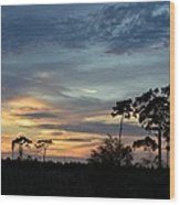 Dramatic Sunset In The Cove Wood Print