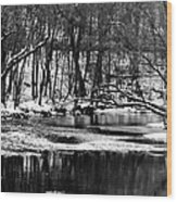 Dramatic Waterway Wood Print