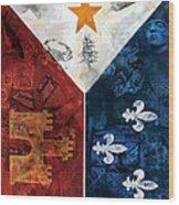 Drapeau Du Acadie Wood Print