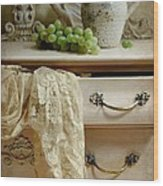 Drawer Of Lace Wood Print by Diana Angstadt