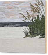 Drawn To The Sea II Wood Print