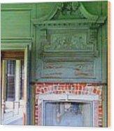 Drayton Fireplace 2 Wood Print