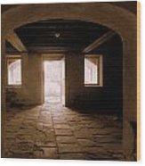 Drayton Hall Basement Wood Print