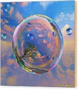 Dream Bubble Wood Print by Robin Moline