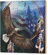 Dream Catcher - Freedom's Flight Wood Print