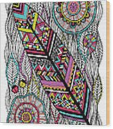 Dream Feather Wood Print