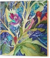 Dream Foliage Wood Print