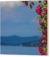 Dream Full Of Roses Wood Print