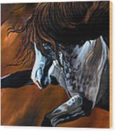 Dream Horse Series 155 - Wild Mustang Pawing The Air Wood Print