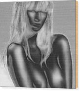 Dream In Black And White Wood Print