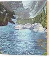 Dream Lake Wood Print by Ron Bowles