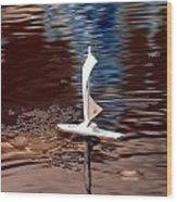 Dream Of Sailing Wood Print