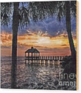 Dream Pier Wood Print