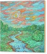 Dream River Wood Print