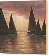 Dream Sails Wood Print