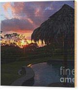 Dream Sunset In Costa Rica Wood Print